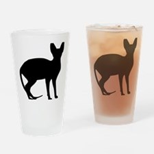 cat_sphynx Drinking Glass