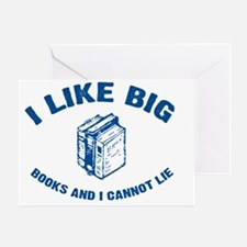 BigBooks_blue Greeting Card