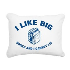 BigBooks_blue Rectangular Canvas Pillow