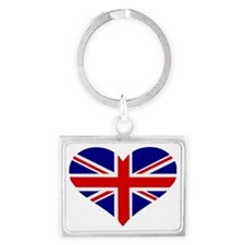 flag_UK_heart Landscape Keychain