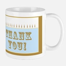 Thank you card (blue and carmel) greeti Mug