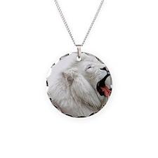 White Lion pillow Necklace