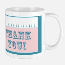 Thank you card (blue and pink) greeting Mug
