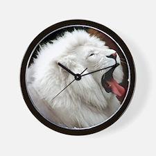 White Lion shirt Wall Clock