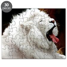 White Lion L print Puzzle