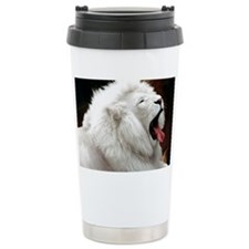 White Lion L print Travel Mug