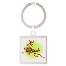 reindeer dancer 2 Square Keychain