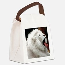 White Lion round orn Canvas Lunch Bag