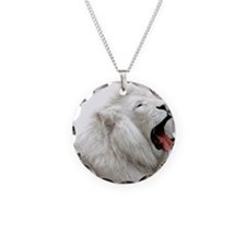 White Lion round orn Necklace