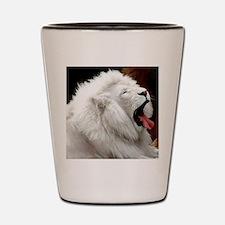 White Lion round orn Shot Glass