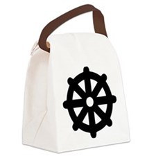lebensrad_buddhismus Canvas Lunch Bag