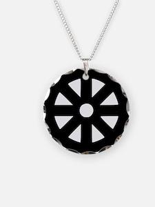 lebensrad_buddhismus Necklace Circle Charm