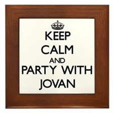 Keep Calm and Party with Jovan Framed Tile