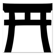 "shinto_tor Square Car Magnet 3"" x 3"""