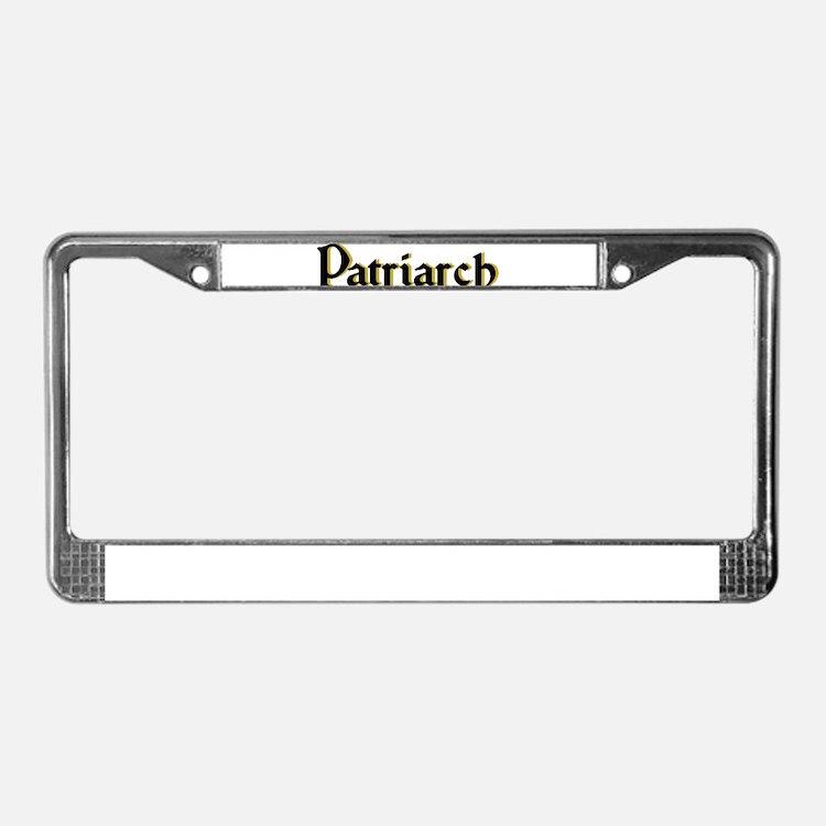 Patriarch License Plate Frame