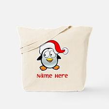 Penguin Santa Tote Bag