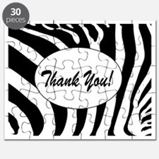 Zebra thank you Note Cards Puzzle