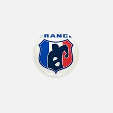 rugby player shield france flag Mini Button