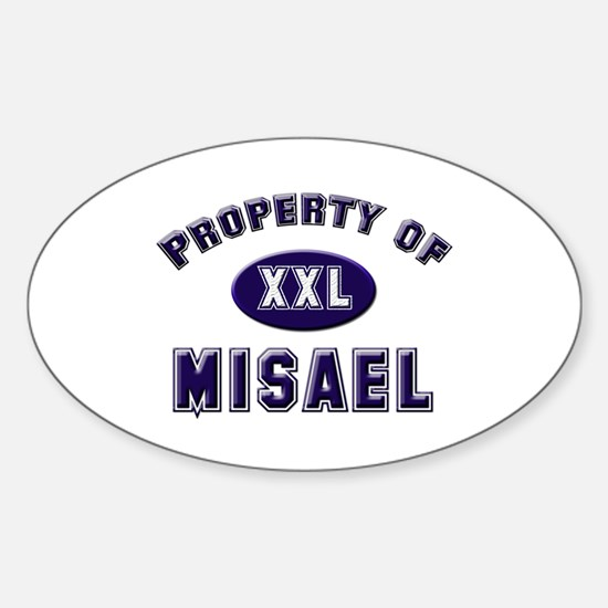 Property of misael Oval Decal