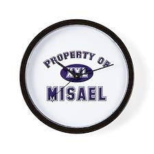 Property of misael Wall Clock