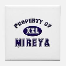 Property of mireya Tile Coaster