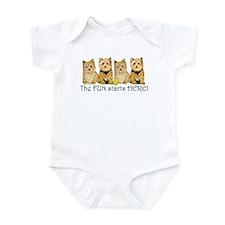Norwich Terrier Fun Infant Bodysuit