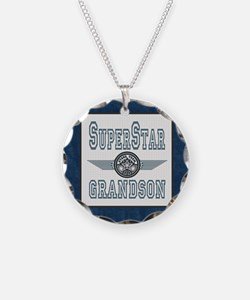Blanket Blue Jean superstar Necklace