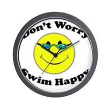 Don't Worry Swim Happy Wall Clock