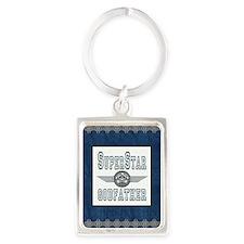Blanket Blue Jean superstar godf Portrait Keychain