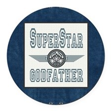 Blanket Blue Jean superstar godfa Round Car Magnet