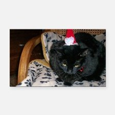 Holiday kitty Rectangle Car Magnet
