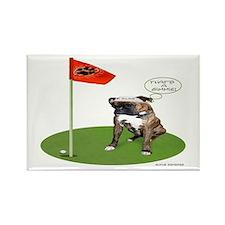 Brindel Boxer Golfer Rectangle Magnet