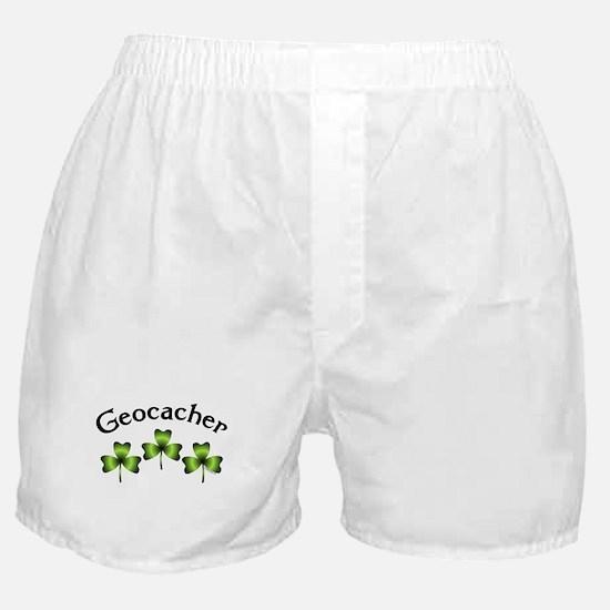 Geocacher 3 Shamrocks Boxer Shorts