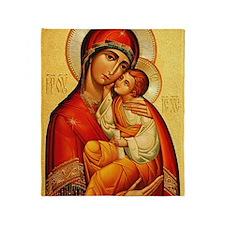 Blessed Virgin Mary Throw Blanket
