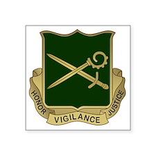 """385th MP Battalion Crest Square Sticker 3"""" x 3"""""""