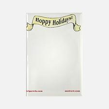 Hoppy Holidays Card Inside Rectangle Magnet