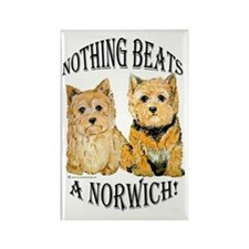 Nothing Beats a Norwich Terri Rectangle Magnet