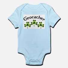 Geocacher 3 Shamrocks Infant Bodysuit