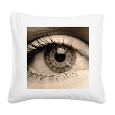 January Square Canvas Pillow