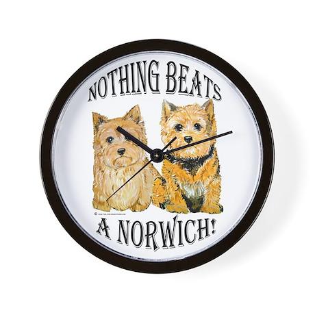 Nothing Beats a Norwich Terri Wall Clock