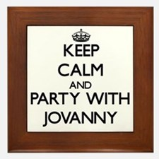 Keep Calm and Party with Jovanny Framed Tile
