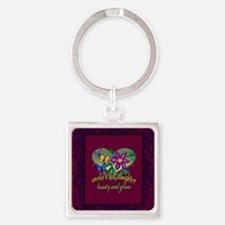 Blanket jeweltone daughter Square Keychain