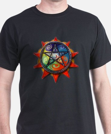 4 elements pentacle red T-Shirt