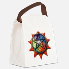 4 elements pentacle red Canvas Lunch Bag