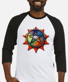 4 elements pentacle red Baseball Jersey