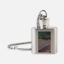 Lewis and Clark made canoes to reac Flask Necklace