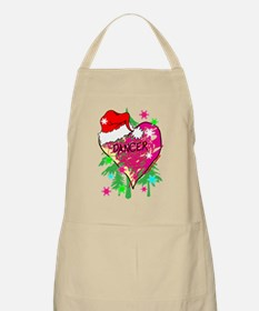 dancer scribble heart christmas stocking cop Apron