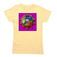 4 elements pentacle purple sq Girl's Tee