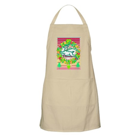 reindeer dancer with wreath copy Apron