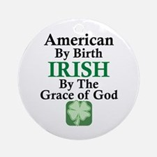 Irish-Grace Of God Ornament (Round)